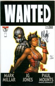 Wanted #1 Dynamic Forces Signed Mark Millar DF COA Ltd 299 Movie Top Cow comic book